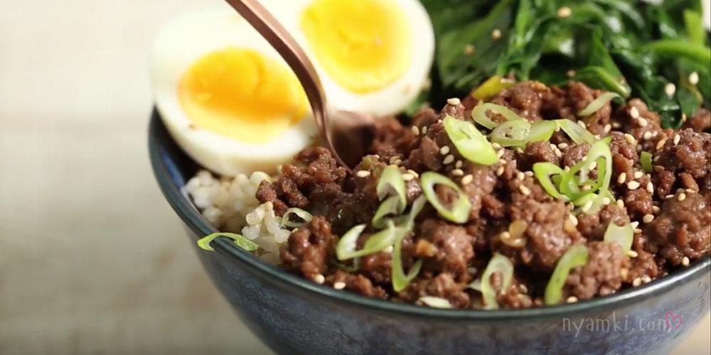 Говядина по-корейски с рисом