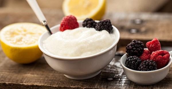 лимонный замороженный йогурт