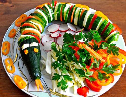 Как сделать украшения из огурца для декорирования блюд