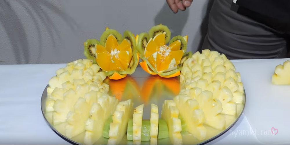 цветы из апельсинов