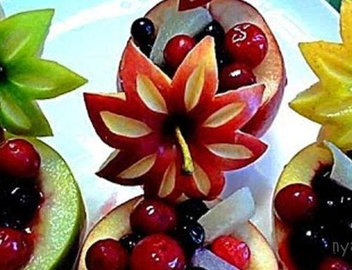 Оригинальная нарезка фруктов