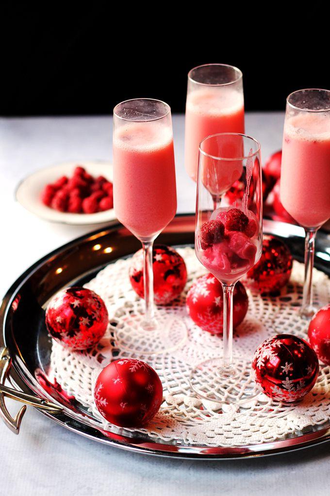 Кремово-малиновый коктейл «Мимоза»